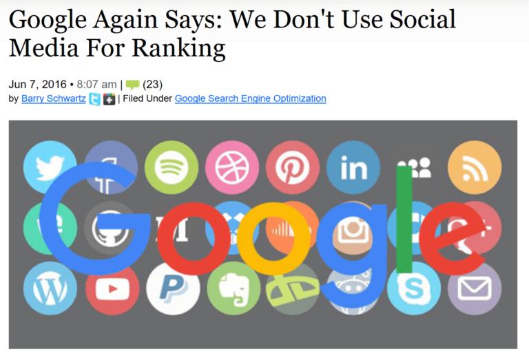 گوگل - شبکه های اجتماعی - تاثیر بر سئو