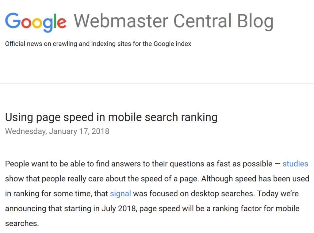 فاکتورهای گوگل در مورد سرعت بارگزاری سایت