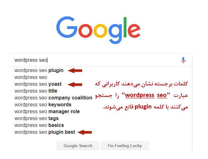 جست و جوی کاربر در گوگل