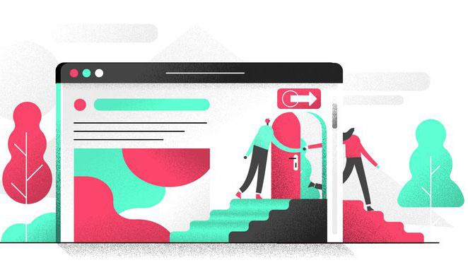 طراحی و رنگ آمیزی مناسب برای سایت در جهت کاهش بانس ریت